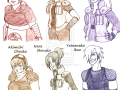 Сравнение девушек трёх кланов